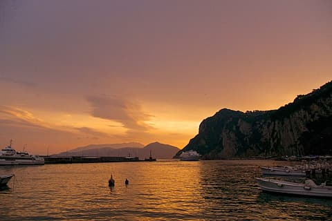 Sunset at Marina Grande, Capri