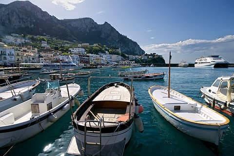 The port on Capri, Italy