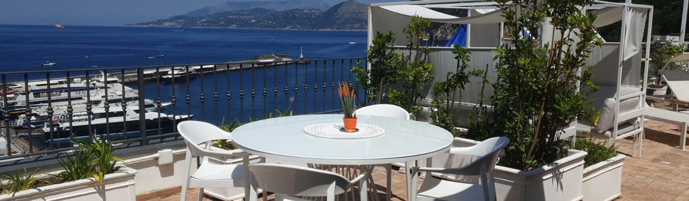 Terrace Restaurant Overlooking The Sea